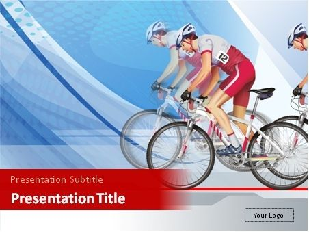 This Powerpoint Template Will Be Good For Presentations On Cycling