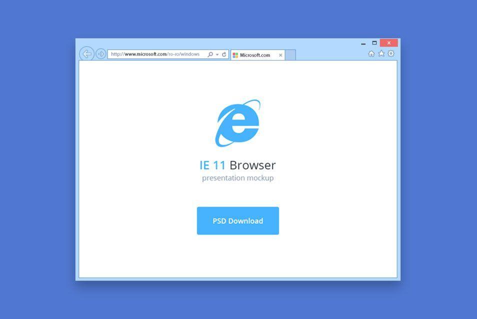 IE 11 Browser Mockup
