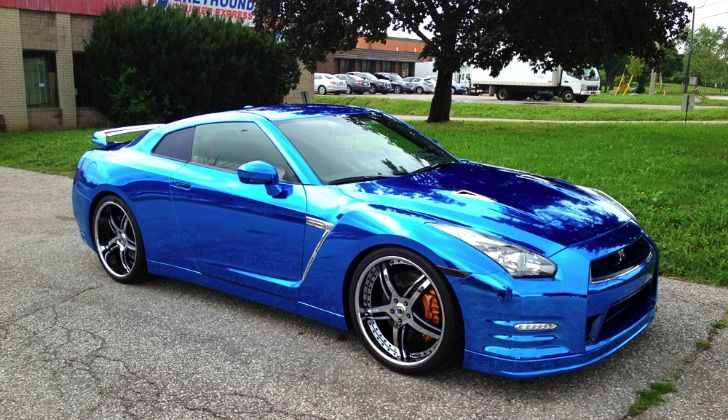 Chrome Painted Vehicles Blue Car Paint