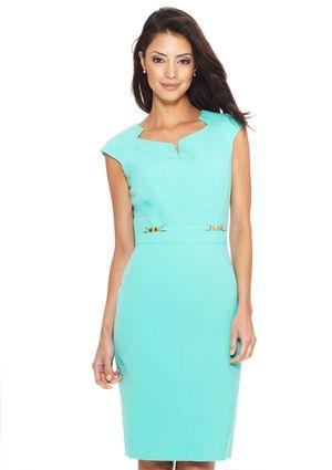 TAHARI ARTHUR S. LEVINE Bi-Stretch Side Detail Shift Dress- love this!