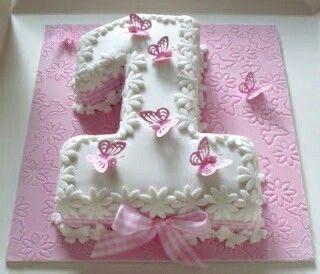 Astounding First Birthday Butterfly Cake With Images 1St Birthday Cakes Birthday Cards Printable Benkemecafe Filternl
