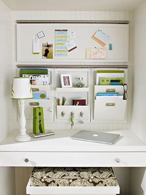Organize papers that land in kitchen