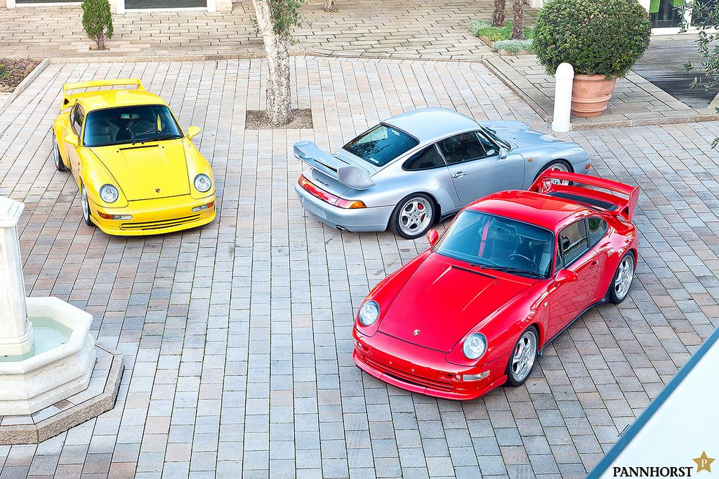 A group of Porsche 993 RS Clubsports. #everyday993 #Porsche
