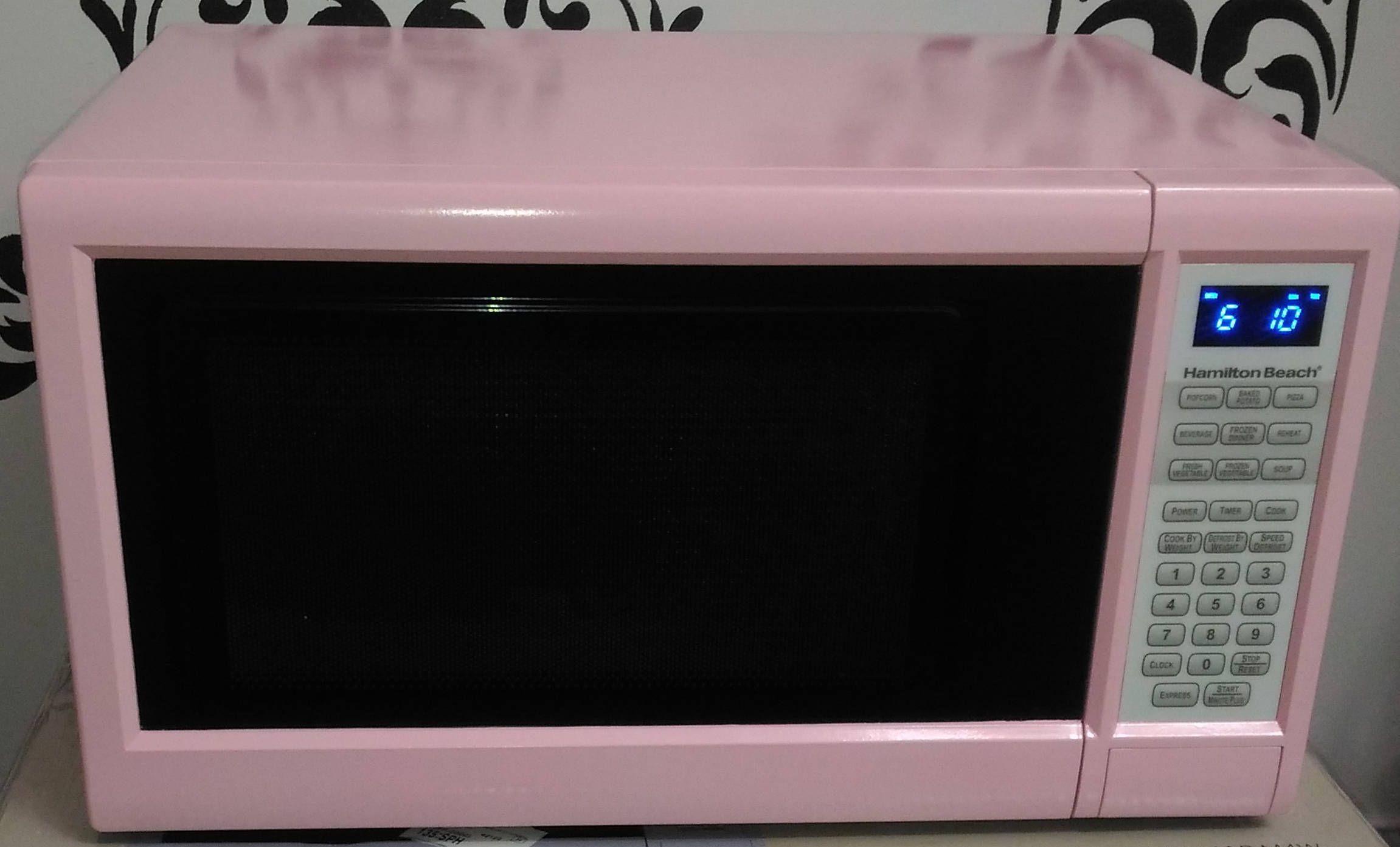 pink hamilton beach 1 3 cu ft digital