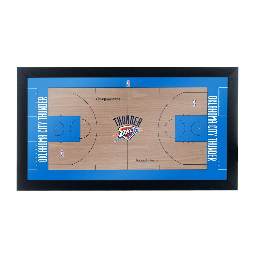 Trademark Oklahoma City Thunder Official NBA Court 15 in