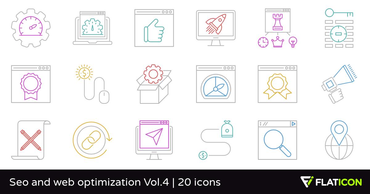 20 premium vector icons of Seo and web optimization Vol.4