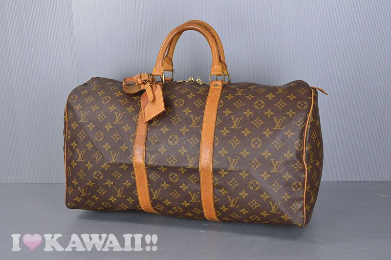 Authentic Louis Vuitton Monogram Keepall 50 Travel Bag M41426