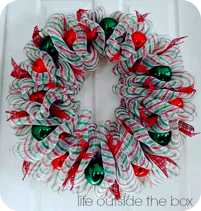 Christmas Deco Mesh Wreath Tutorial Wreaths Wreaths Christmas