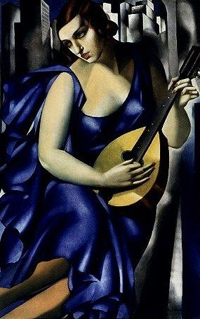 Tamara de Lempicka, Woman With Mandolin on ArtStack #tamara-de-lempicka-lempicka #art