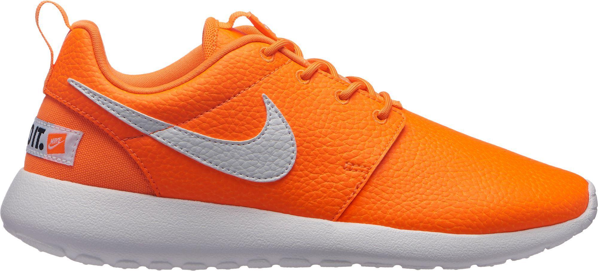 Nike Women's Roshe One Premium Just Do It Shoes, Orange