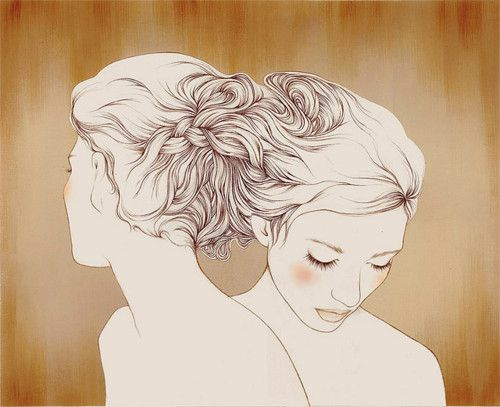 Intertwined hair