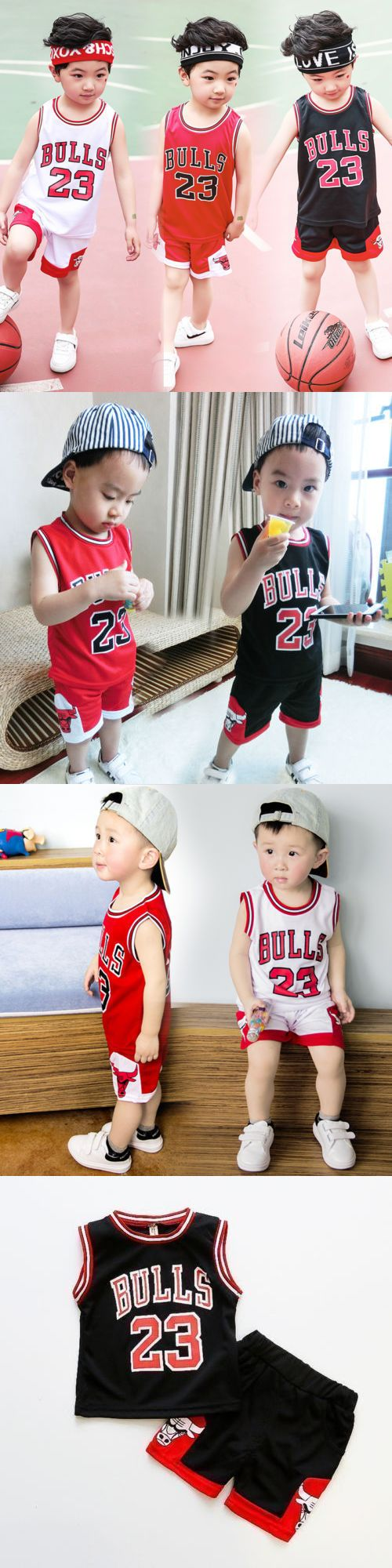 3ac3cfc8c7ff87 Outfits and Sets 163427  Hot Kids Baby Boys Girls  23 Michael Jordan Bulls  Basketball Jerseys Short Suits -  BUY IT NOW ONLY   12.5 on  eBay  outfits   girls ...