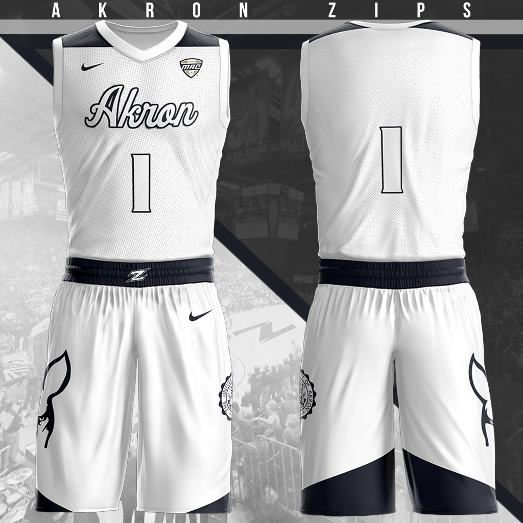 brand new 1d16d 6a82e Akron Zips Home Uniform | Basketball Uniforms and Clothing ...
