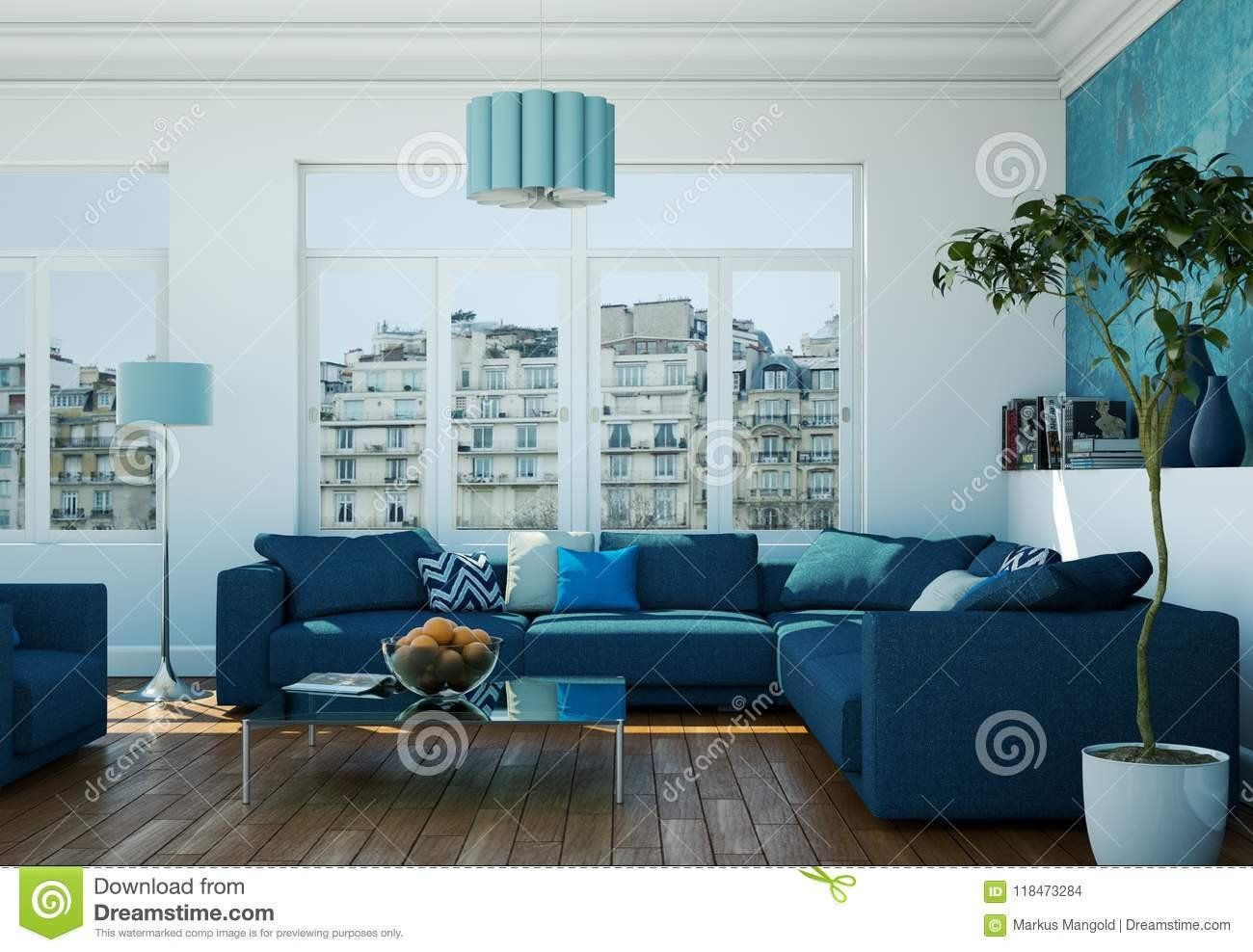 Royal Blue Dining Room Chairs Beautiful Modern Bright Living Room Interior Design With Blue Sofas Ruang Keluarga Dekorasi Ruang Keluarga Desain Kamar #royal #blue #living #room #decorating #ideas