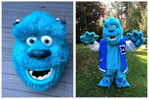 Sulley costume tutorial with chicken wire just search for sullen & Sulley costume tutorial with chicken wire just search for sullen ...