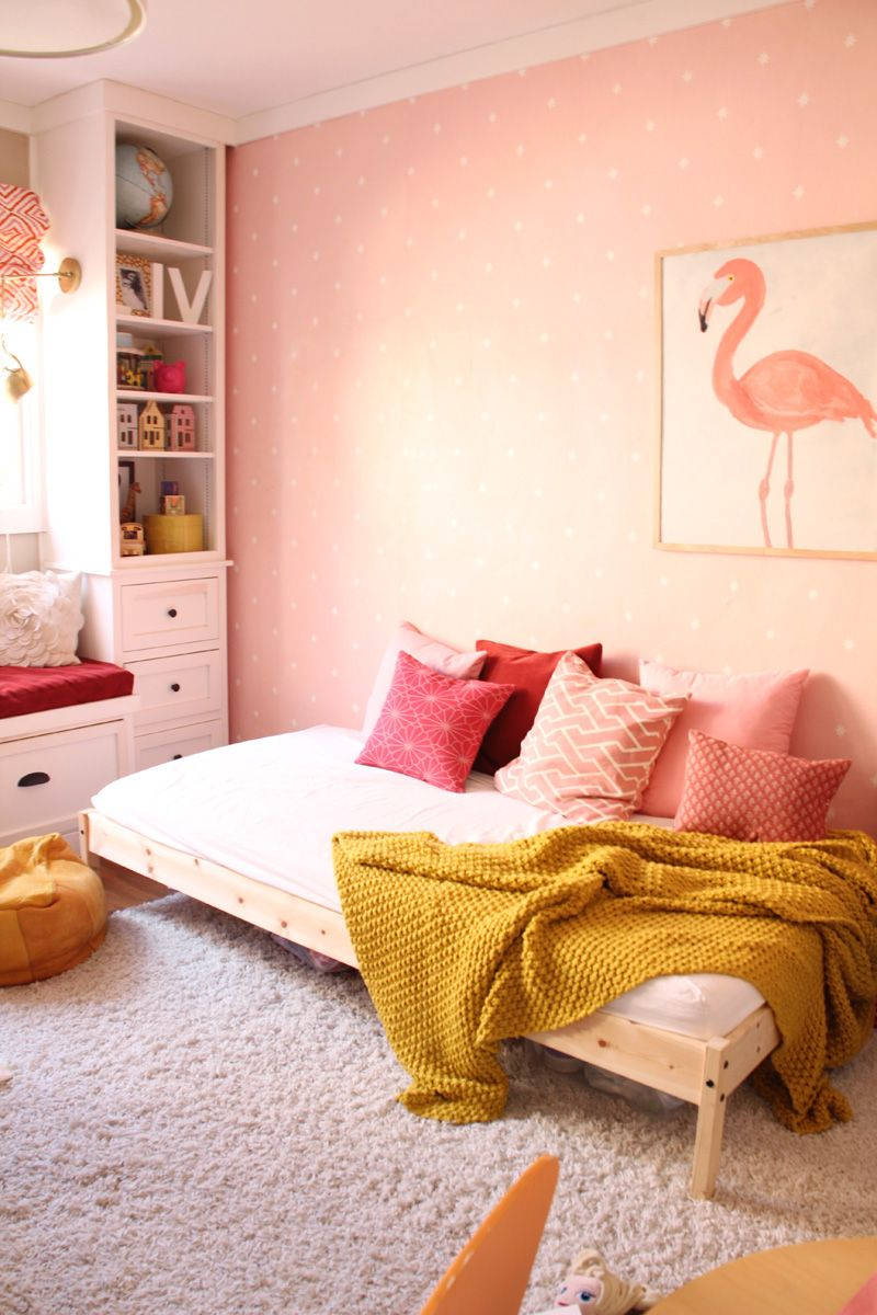 Girls' Room - Modern Pink Nursery Daybed