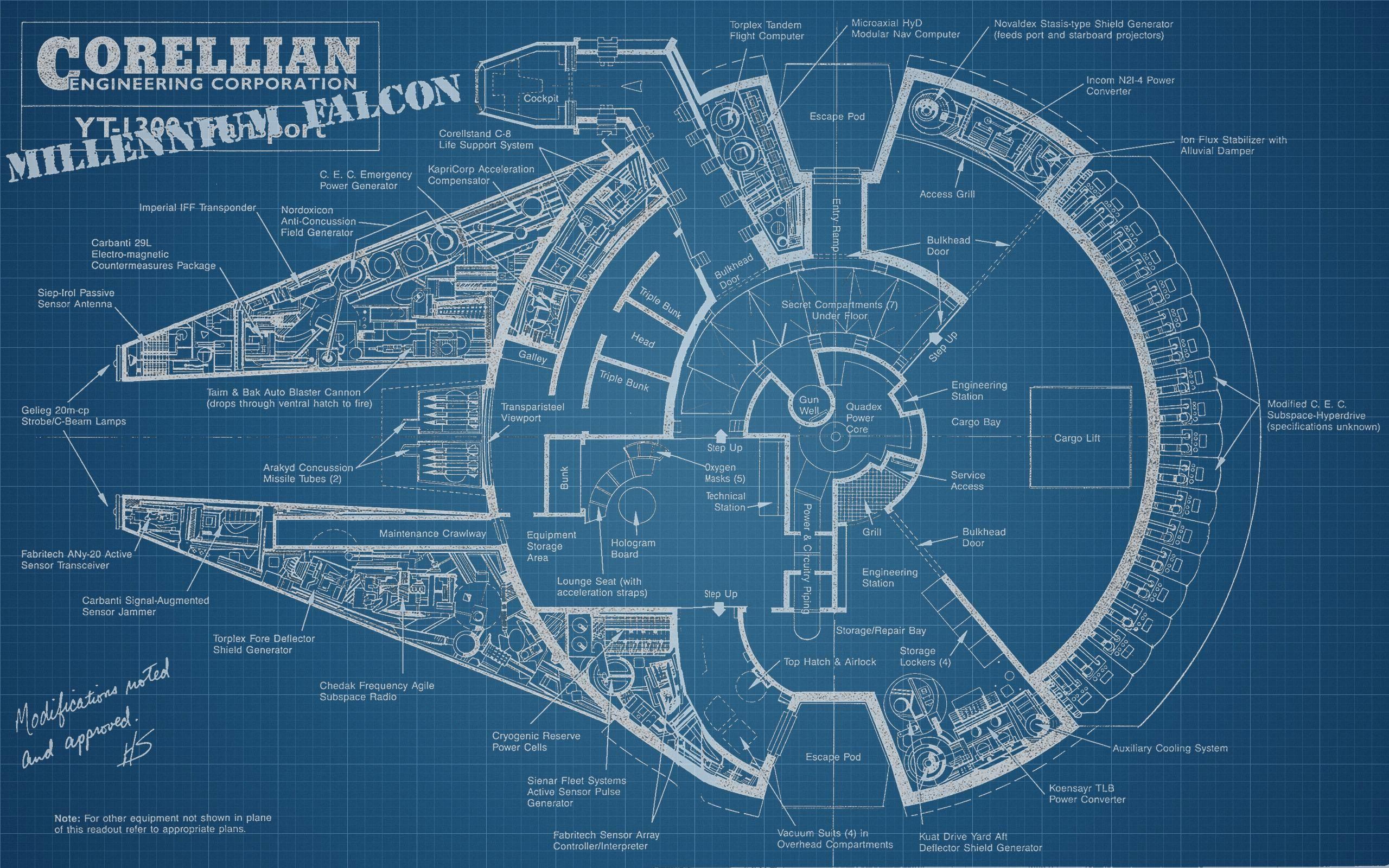 2560 1600 millennium falcon build for Where to buy blueprint paper