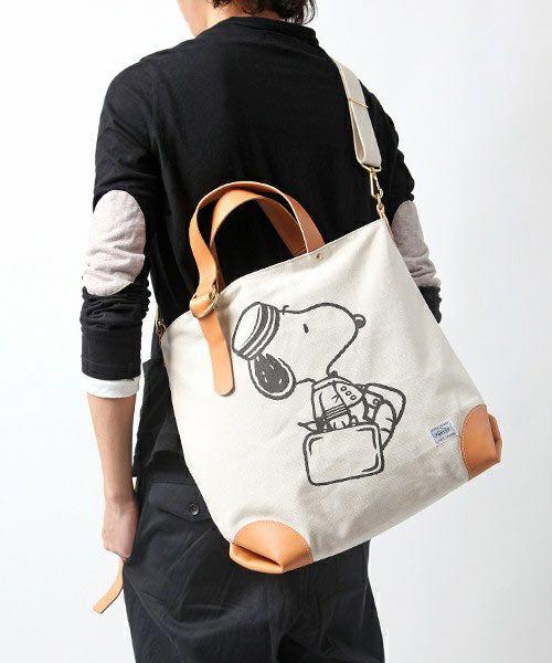 PORTER PEANUTS Snoopy Tote Bag  83f090b0e3a03