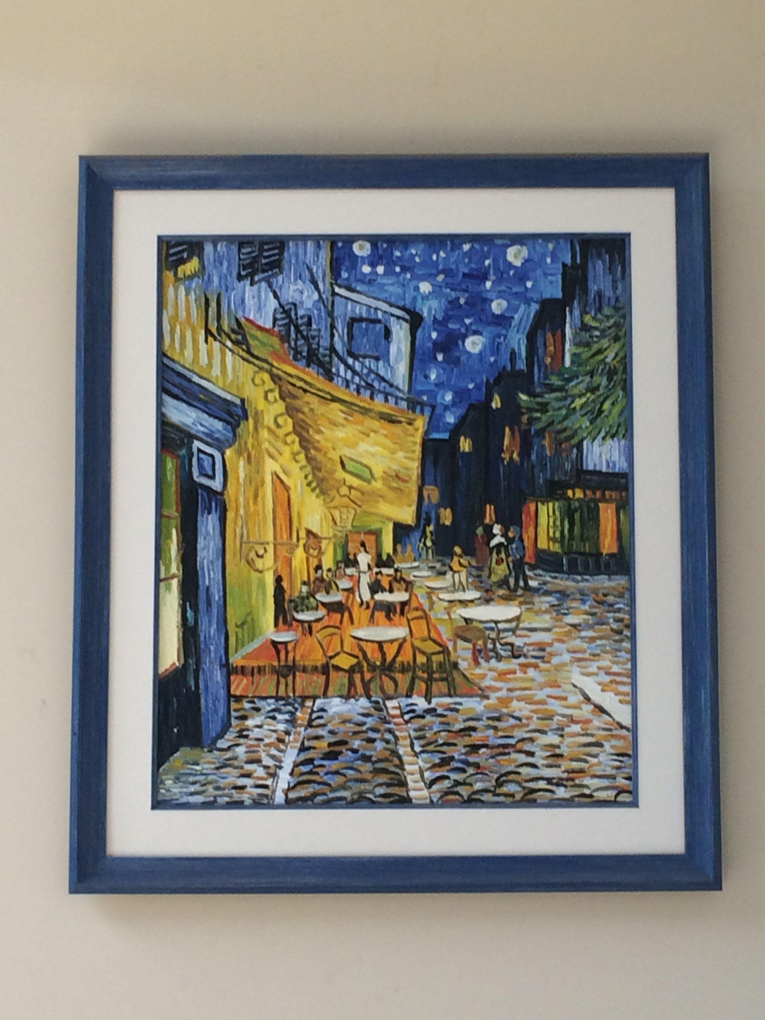 Terraza De Café Por La Noche Van Gogh Copia En 2019 Van