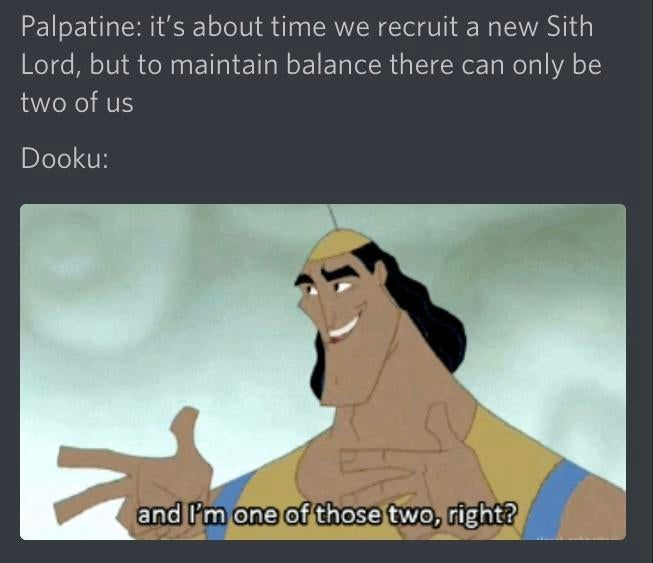 A Post I Made While In Discord Prequelmemes Funny Star Wars Memes Star Wars Facts Star Wars Jokes