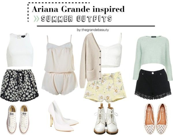 Ariana Grande inspired summer outfits. *Requested* Find all items here.