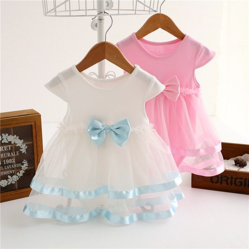 16b291e32 Baby Girl Kid Bow Tulle Tutu Dress Princess Party Outfit Newborn ...