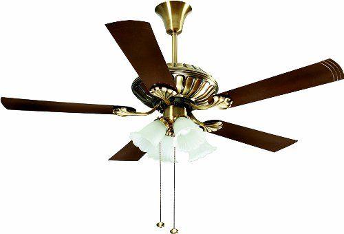Crompton Greaves Jupiter 1200mm 75 Watt Ceiling Fan Brass Amazon In Home Kitchen Brass Ceiling Fan Ceiling Fan Decorative Ceiling Fans