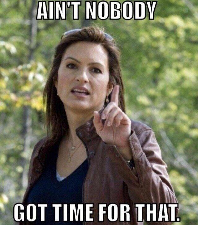 Ha ha! Det. Olivia Benson from Law and Order: SVU
