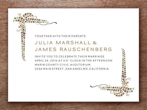 Printable Wedding Invitation Template u0027Vineu0027 Printable Wedding - copy letter format invitation