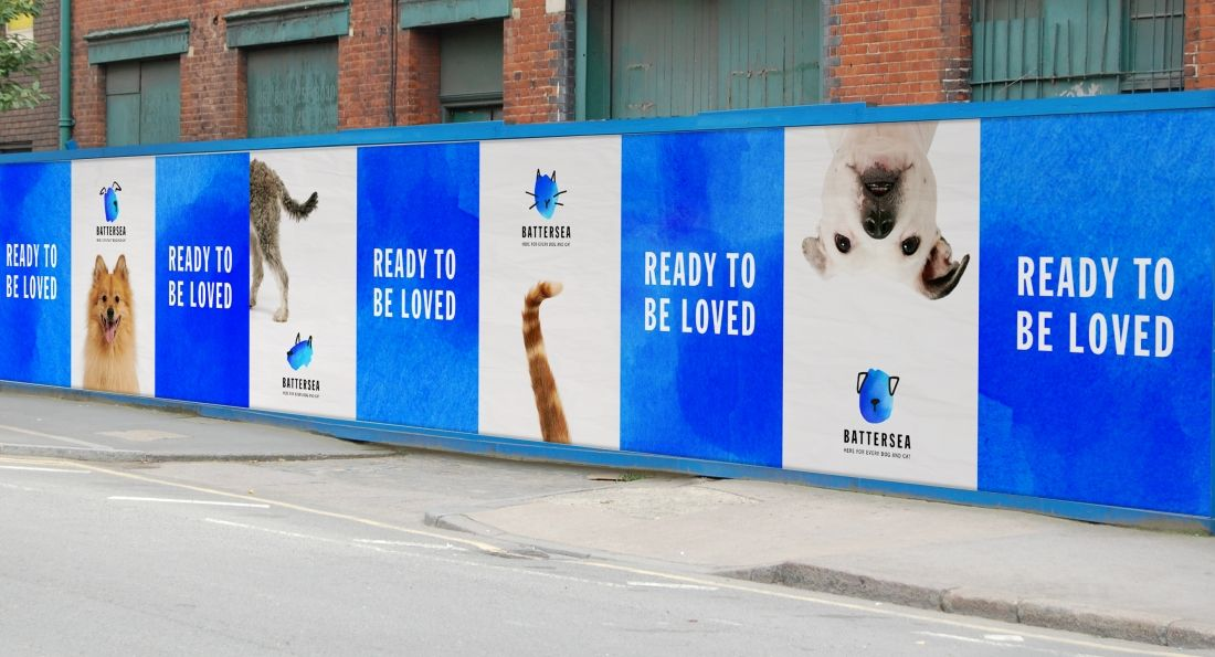 Pentagram S Rebrand For Animal Charity Battersea Is Here For Every Dog And Cat Battersea Dogs