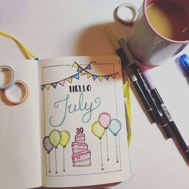 20 July Bullet Journal Themes You'll Be Excited to Try Out #birthdaymonth