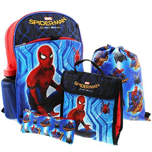"""Lunch Bag,Bottles 5 Item Incredibles 16/"""" Backpack Set Comes with a utility case"""