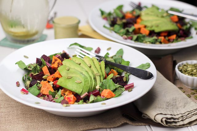 Roasted Beet and Sweet Potato Salad | by Sonia! The Healthy Foodie