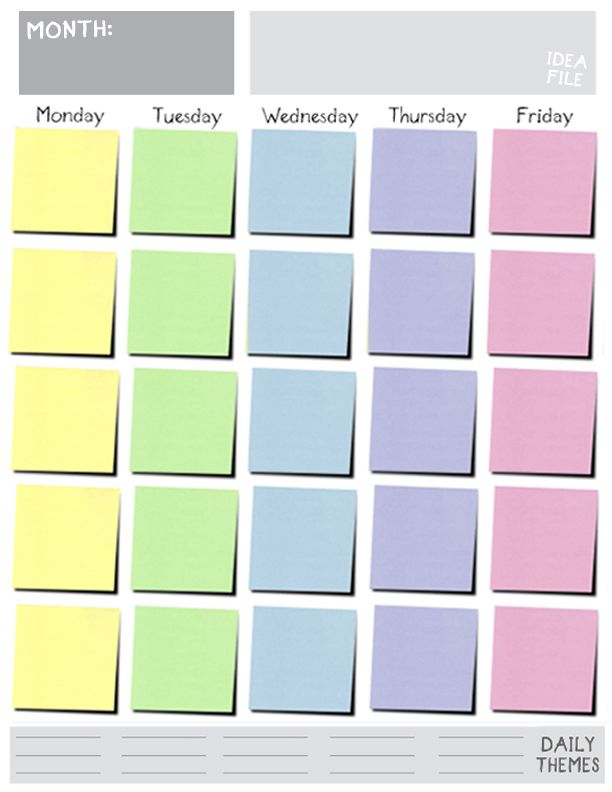 5-Day-Schedulejpg Blog Pinterest Weekly planner, Planners and