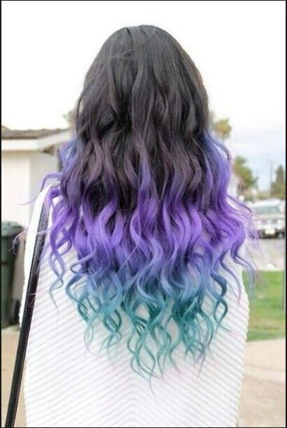 Black Faded Into Purple Into Blue Everything Else Hair Hair
