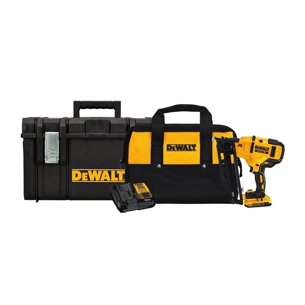 16 Gauge Angled Finish Nailer With Bonus 22 Inch Tool Box Finish Nailer Tool Box Nailer