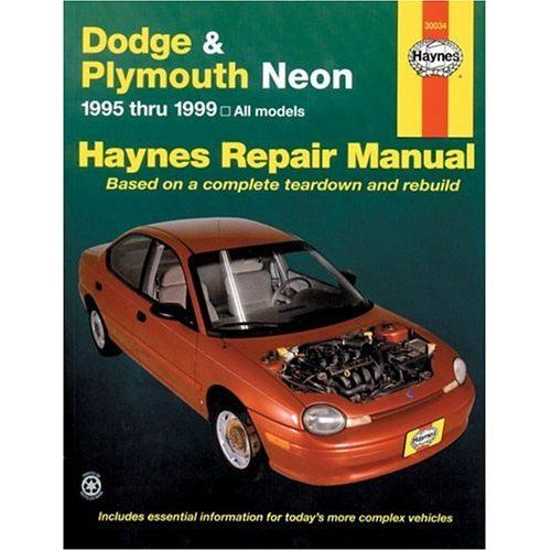 dodge plymouth neon haynes repair manual 1995 1999 vehicle rh pinterest com