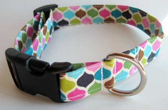 Modern Punk Dog Collar size Medium by jeanamichelle on Etsy, $11.50