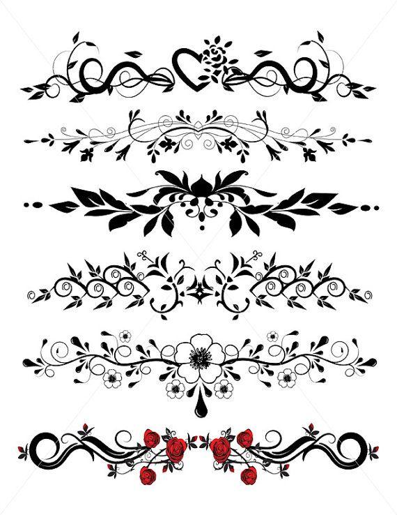 divider lines flourish graphics underlines pdf jpg