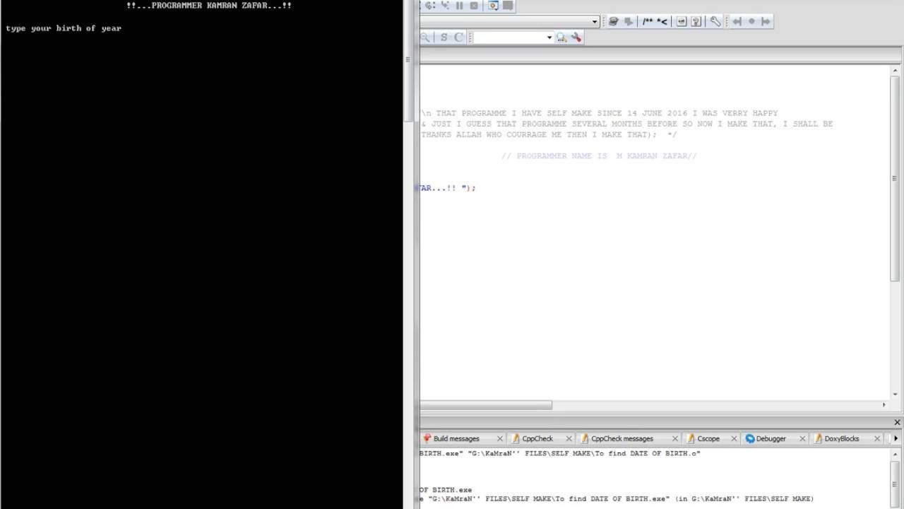 C Programming How To Find Complete Date Of Birth Work From Home
