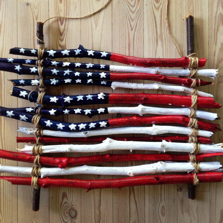 American wooden flag wooden flag