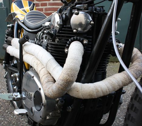 1981 Yamaha XS650 Bobber with exhaust by Short Cut Choppers