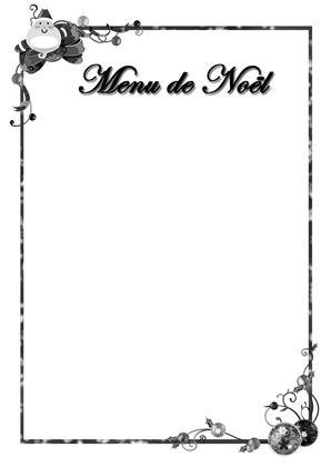 Menus De Noël Gratuit Avec Cartons Nominatifs Menu De