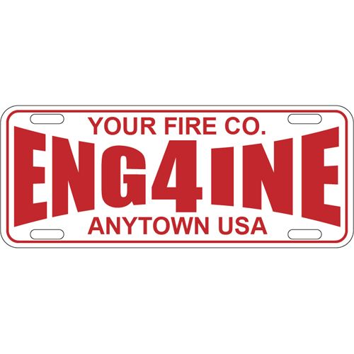 Custom Reflective License Plate Half Size Cool Fire Stuff - Custom reflective fire helmet decals