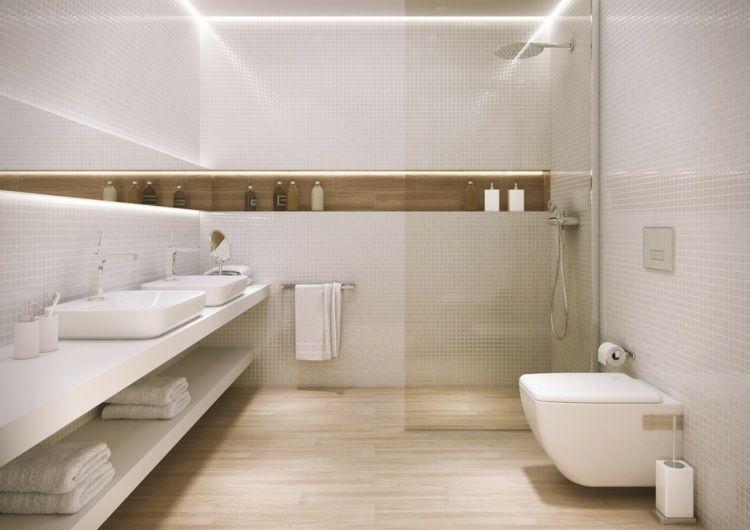 Carrelage salle de bain imitation bois – 32 idées modernes