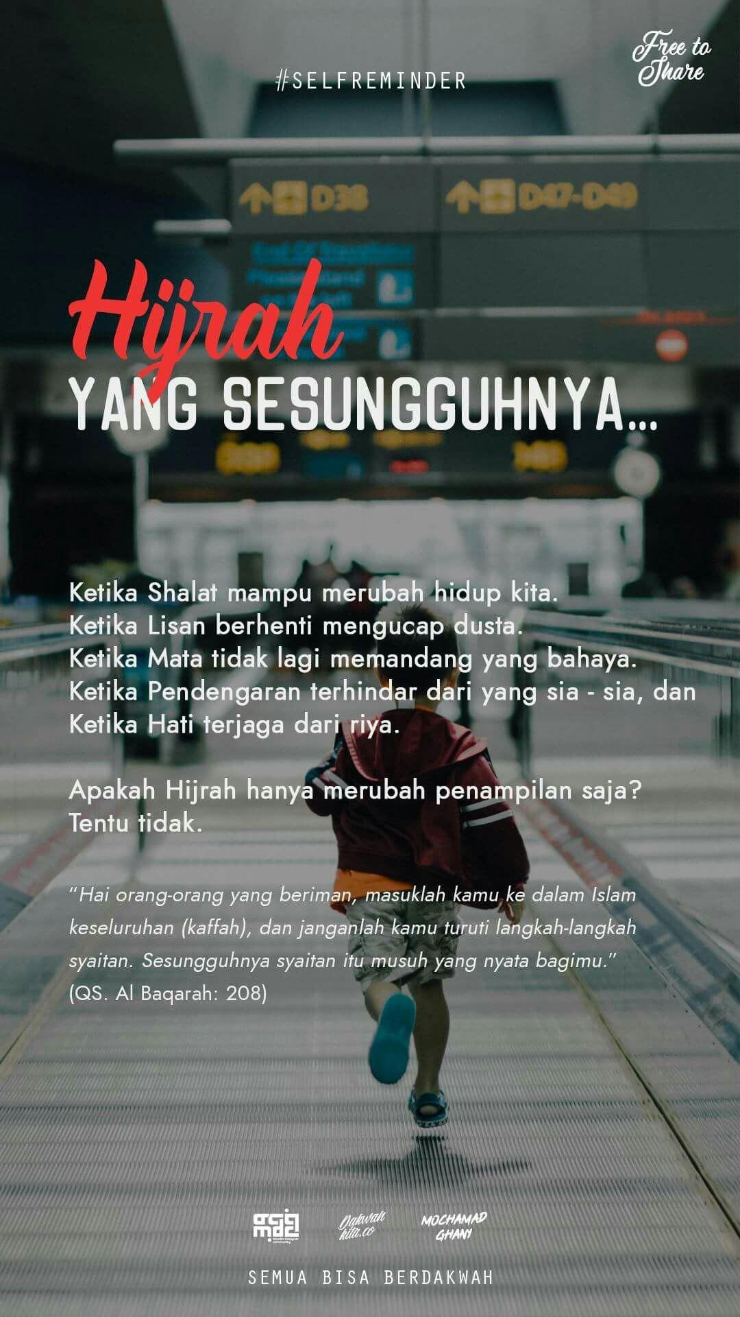 Hijrah Sesungguhnya Islamic Quotes Motivasi Kutipan
