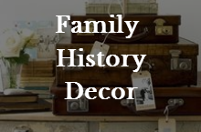 How to use family history decor to create a love for your heritage.