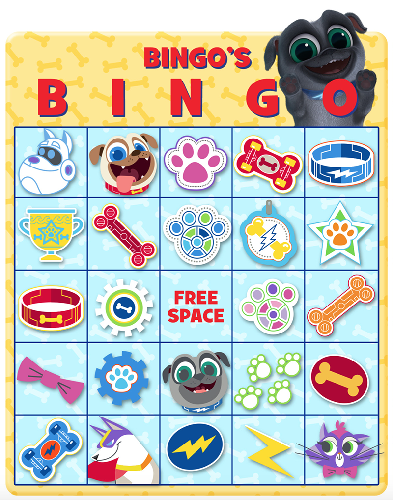 2a10eecdec663 BINGO S BINGO! Print out this fun game and check out Puppy Dog Pals on  Disney Channel   the Disney Junior App! Bow Wow!