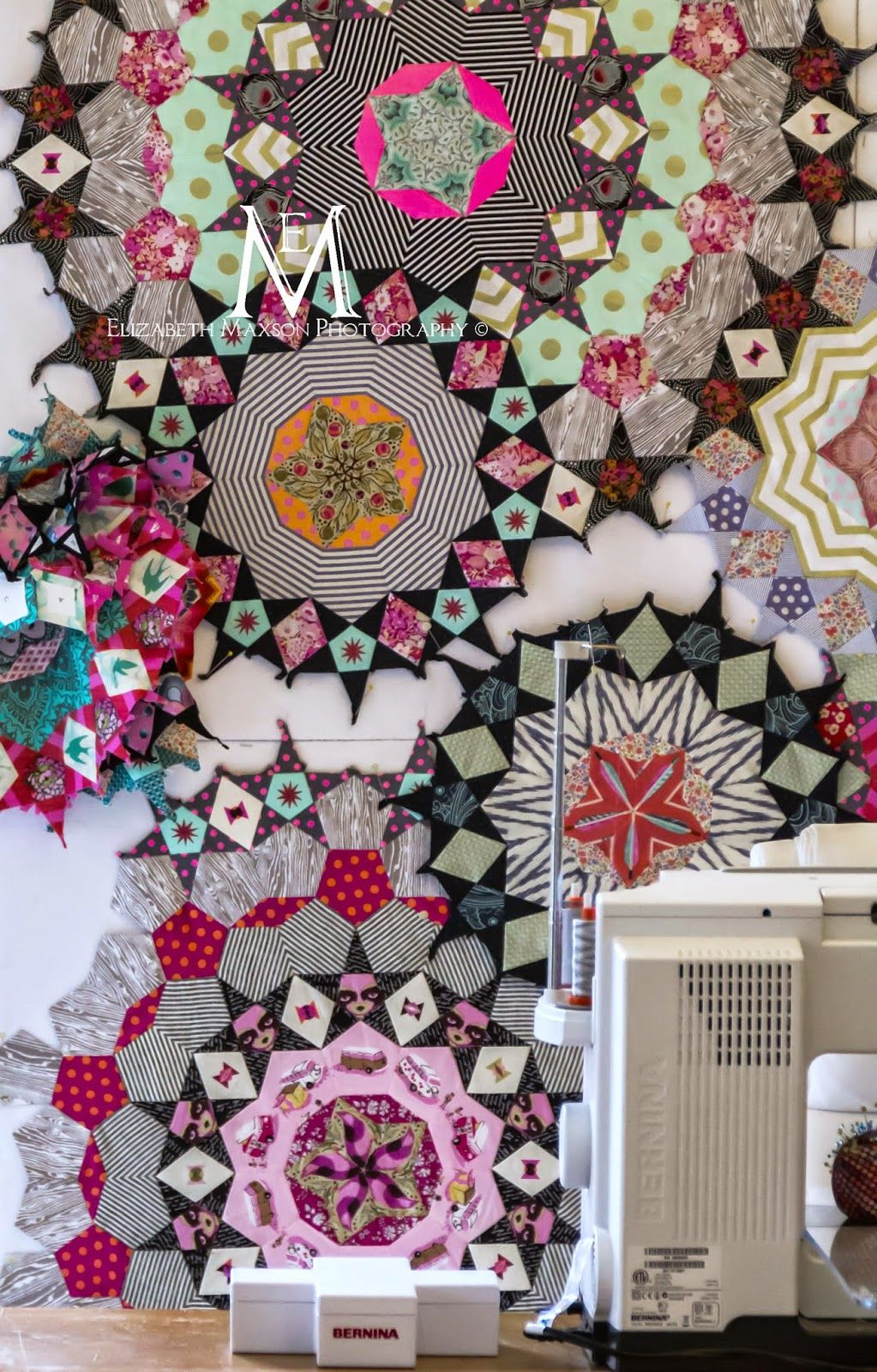 Tickled Pink (With images) English paper piecing quilts