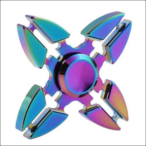 NEW Rainbow Fidget Spinner Stress Relieve Desk Finger Toy Gift  kids adults